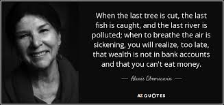 Image result for you cannot eat money quote